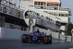March 9, 2018 - Barcelona, Catalonia, Spain - 28 Brendon Hartley from New Zealand with Scuderia Toro Rosso Honda STR13 during day four of F1 Winter Testing at Circuit de Catalunya on March 9, 2018 in Montmelo, Spain. (Credit Image: © Xavier Bonilla/NurPhoto via ZUMA Press)