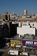 New York. elevated view on Lower east side , general view on the trendy area and Rivington street and hotel  delancey street, rivington street /  Lower east side vue generale sur le quartier tendance branche de  New York Manhattan - Etats unis