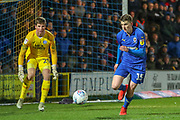 AFC Wimbledon defender Steve Seddon (15) chasing the ball in the box during the EFL Sky Bet League 1 match between AFC Wimbledon and Peterborough United at the Cherry Red Records Stadium, Kingston, England on 12 March 2019.