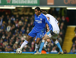 London, England - Tuesday, January 23, 2007: Chelsea's Didier Drogba against Wycombe Wanderers during the League Cup Semi-Final 2nd Leg match at Stamford Bridge. (Pic by Chris Ratcliffe/Propaganda)