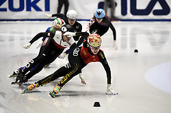 February 8, 2019 - Torino, Italia - Foto LaPresse/Nicolò Campo .8/02/2019 Torino (Italia) .Sport.ISU World Cup Short Track Torino - 500 meter Ladies Preliminaries.Nella foto: Yihan Guo guida il gruppo..Photo LaPresse/Nicolò Campo .February 8, 2019 Turin (Italy) .Sport.ISU World Cup Short Track Turin - 500 meter Ladies Preliminaries.In the picture: Yihan Guo leads the pack (Credit Image: © Nicolò Campo/Lapresse via ZUMA Press)