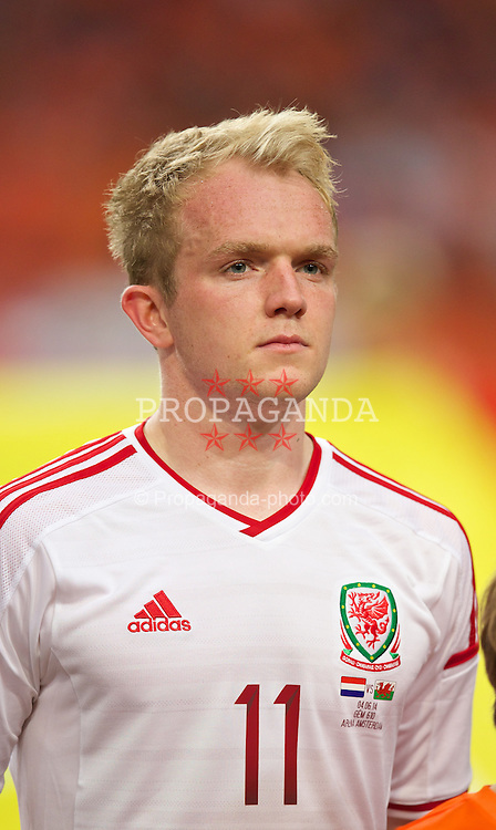 AMSTERDAM, NETHERLANDS - Wednesday, June 4, 2014: Wales' Jonathan Williams before the International Friendly match against the Netherlands at the Amsterdam Arena. (Pic by David Rawcliffe/Propaganda)