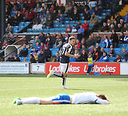 Greg Stewart celebrates goal number four - Kilmarnock v Dundee - Ladbrokes Scottish Premiership at Rugby Park<br /> <br />  - &copy; David Young - www.davidyoungphoto.co.uk - email: davidyoungphoto@gmail.com
