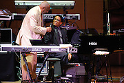 "Herbie Hancock and Bill Cosby at Herbie Hancock's ""Seven Decades: The Birthday Celebration"" at Carnegie Hall. June 24, 2010"