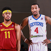 Delaware 87ers Guard JORDAN MCRAE (4) and Canton Charge Guard QUINN COOK (11) stand on the floor together in the second half of a NBA D-league regular season basketball game between the Delaware 87ers and the Canton Charge Tuesday, JAN, 26, 2016 at The Bob Carpenter Sports Convocation Center in Newark, DEL.<br /> <br /> Delaware 87ers guard Jordan McRae broke the NBA minor league&rsquo;s single-game scoring record going 21-34 finishing with 61 points in a 130-123 overtime win over the Canton Charge.