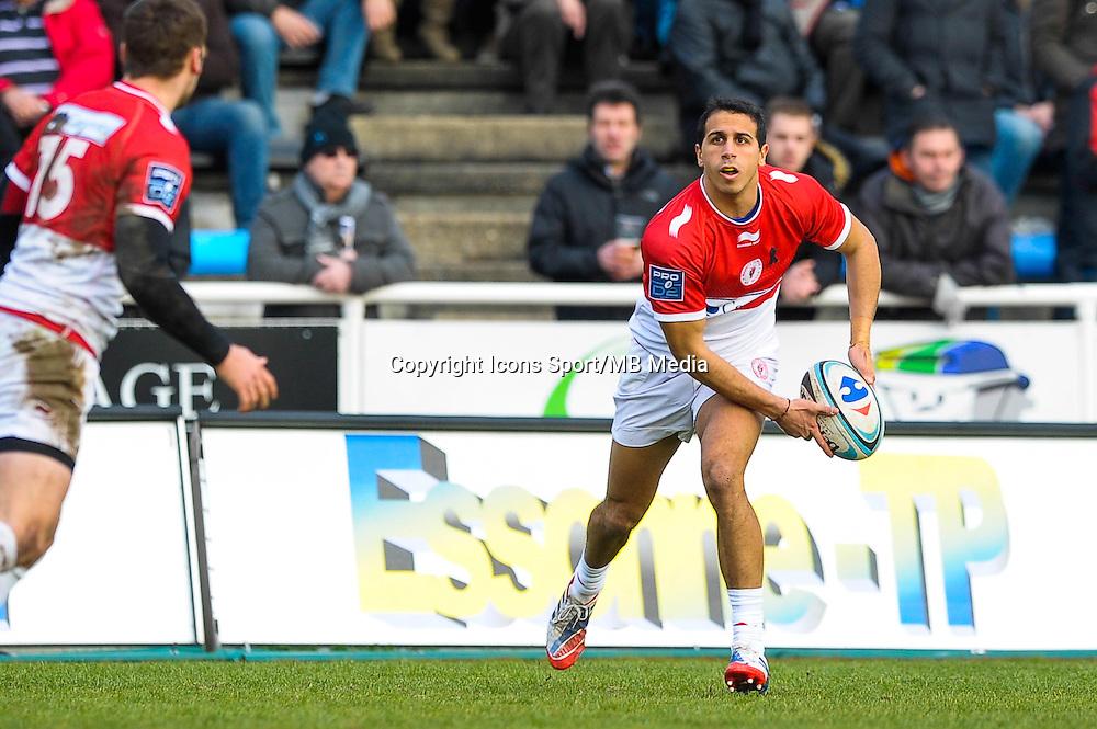 Kylan Hamdaoui - 25.01.2015 - Massy / Biarritz - 18eme journee de Pro D2<br /> Photo : Andre Ferreira / Icon Sport