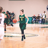 4th year guard, Michaela Kleisinger (2) of the Regina Cougars during the Women's Basketball Home Game on Sat Dec 01 at Centre for Kinesiology,Health and Sport. Credit: Arthur Ward/Arthur Images