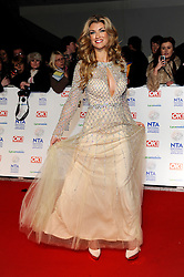 Amy Willerton arrives at The National Television Awards Ceremony 2014, The O2 Arena, Greenwich,  London, United Kingdom. Wednesday, 22nd January 2014. Picture by i-Images