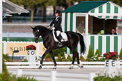 Eveline Van Looveren riding Exelent in the Grade 1a Para-Dressage at the 2014 World Equestrian Games, Caen, Normandy, France..