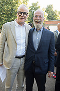 HANS ULRICH OBRIST, JOHN KALDOR, Opening of Christo and Jeanne-Claude: ,Barrels and the Mastaba 1958 - 2018, London, 21 June 2018