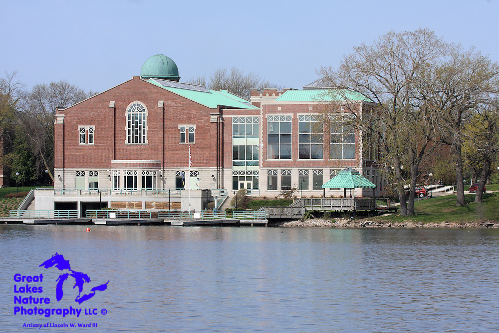 St. Norbert College is one of the outstanding features of the City of De Pere. This image captures the college's Family Campus Center on the Fox River.