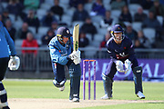 Derbyshires Wayne Madsen during the Royal London 1 Day Cup match between Lancashire County Cricket Club and Derbyshire County Cricket Club at the Emirates, Old Trafford, Manchester, United Kingdom on 2 May 2019.