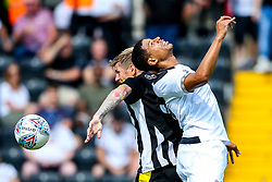 Curtis Davies of Derby County challenges Jonathan Stead of Notts County - Mandatory by-line: Robbie Stephenson/JMP - 14/07/2018 - FOOTBALL - Meadow Lane - Nottingham, England - Notts County v Derby County - Pre-season friendly
