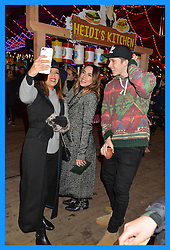 Left to right, EVA LONGORIA, MEL C and BROOKLYN BECKHAM at the Hyde Park Winter Wonderland - VIP Preview Night, Hyde Park, London on 17th November 2016.