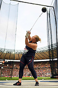 Alexandra Tavernier competes and wins silver medal in women hammer throw during the European Championships 2018, at Olympic Stadium in Berlin, Germany, Day 6, on August 12, 2018 - Photo Philippe Millereau / KMSP / ProSportsImages / DPPI