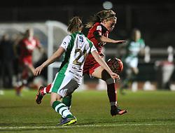 Millie Farrow of Bristol City Women passes Hannah Short of Yeovil Town Ladies - Mandatory by-line: Dougie Allward/JMP - Mobile: 07966 386802 - 23/03/2016 - FOOTBALL - Stoke Gifford Stadium - Bristol, England - Bristol City Women v Yeovil Town Ladies - FA Women's Super League 2