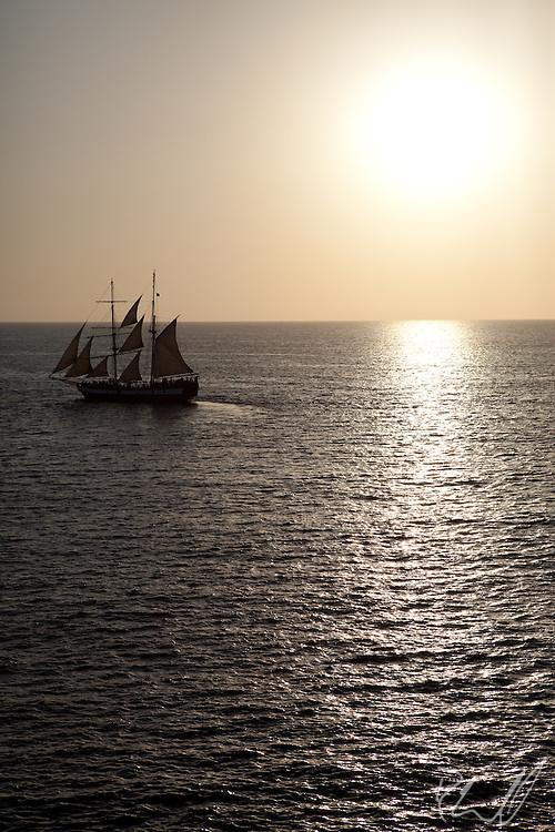 Sailboat on the Mediterranean