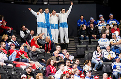 Supporters of Finland during the 2017 IIHF Men's World Championship group B Ice hockey match between National Teams of Norway and Finland, on May 13, 2017 in AccorHotels Arena in Paris, France. Photo by Vid Ponikvar / Sportida