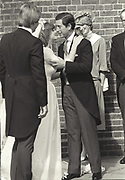 WILLIAM BARTHOLOMEW; CAROLYN BARTHOLOMEW; PRINCE CHARLES, PRINCESS OF WALES, Princess of Wales at the marriage of Carolyn Pride to William Bartholomew. Chelsea Old Church. London. 3 September 1982,