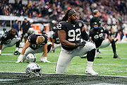 P.J. Hall (DT) of the Oakland Raiders during the International Series match between Oakland Raiders and Chicago Bears at Tottenham Hotspur Stadium, London, United Kingdom on 6 October 2019.