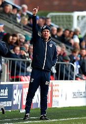 Bristol Rovers manager Darrell Clarke points - Mandatory by-line: Matt McNulty/JMP - 14/01/2017 - FOOTBALL - Highbury Stadium - Fleetwood, England - Fleetwood Town v Bristol Rovers - Sky Bet League One