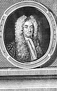 Hans Sloane (1660-1753).  English physician and naturalist.  Founded Chelsea Physic Garden: Secretary to the Royal Society (1693-1713):Donated library of 50,000 books and 3,500 manuscripts to British Museum   Engraving published 1753, the year of his death.