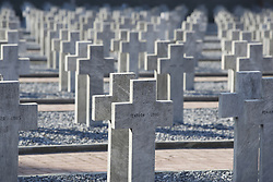 November 11, 2018 - Thessaloniki, Greece - French army soldier graves killed during WWI. Centennial commemorations at Zeitenlik allied cemetery to mark the end of World War I, at the northern Greek city of Thessaloniki. (Credit Image: © Giannis Papanikos/ZUMA Wire)