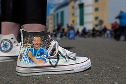 Custom made shoes straight from New York to Stamford Bridge - Mandatory byline: Jason Brown/JMP - 15/05/2016 - FOOTBALL - London, Stamford Bridge - Chelsea v Leicester City - Barclays Premier League
