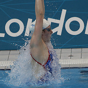 USA swimmer Missy Franklin training with the USA team at the Aquatic Centre at Olympic Park, Stratford during the London 2012 Olympic games preparation at the London Olympics. London, UK. 24th July 2012. Photo Tim Clayton