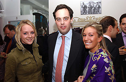 Left to right, MISS NATALIE BURGUN, LORD BUCKHURST and MISS OLIVIA BUCKINGHAM at a party to celebrate the opening of children's store Chippi Hacki at 8 Motcomb Street, London, SW1 on 24th November 2004.<br /><br />NON EXCLUSIVE - WORLD RIGHTS