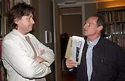 Nigel Greenwood and Danny Moynihan. Ellen Cantor: Crazy Treasure Hunt, Anne Faggionato,<br />© Copyright Photograph by Dafydd Jones 66 Stockwell Park Rd. London SW9 0DA Tel 020 7733 0108 www.dafjones.com