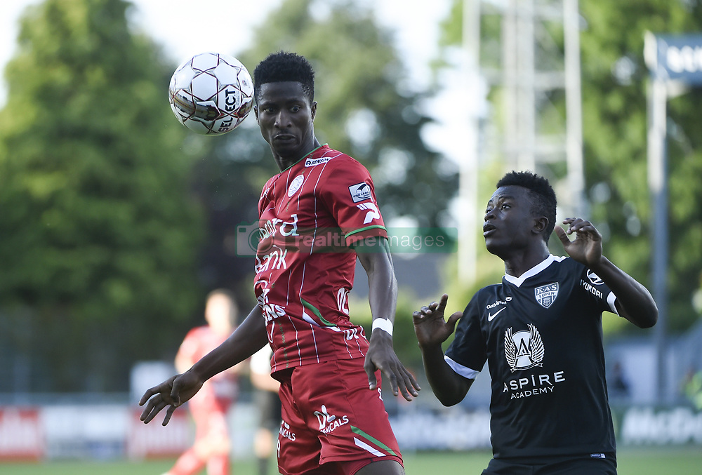 July 29, 2017 - Eupen, BELGIUM - Essevee's Peter Olayinka and Eupen's Souleymane Aw fight for the ball during the Jupiler Pro League match between KAS Eupen and SV Zulte Waregem, in Eupen, Saturday 29 July 2017, on the first day of the Jupiler Pro League, the Belgian soccer championship season 2017-2018. BELGA PHOTO JOHN THYS (Credit Image: © John Thys/Belga via ZUMA Press)