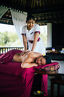 The spa at the InterContinental Bali Resort Jimbaran Beach in Bali, Indonesia.