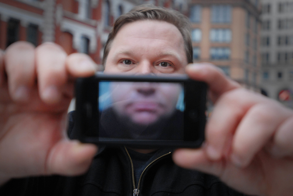 "Mike Daisey is an American monologist. For his one man show   ""The Agony and the Ecstasy of Steve Jobs'  he went to China to interview Apple workers by standing outside the factory wearing a Hawiian shirt."