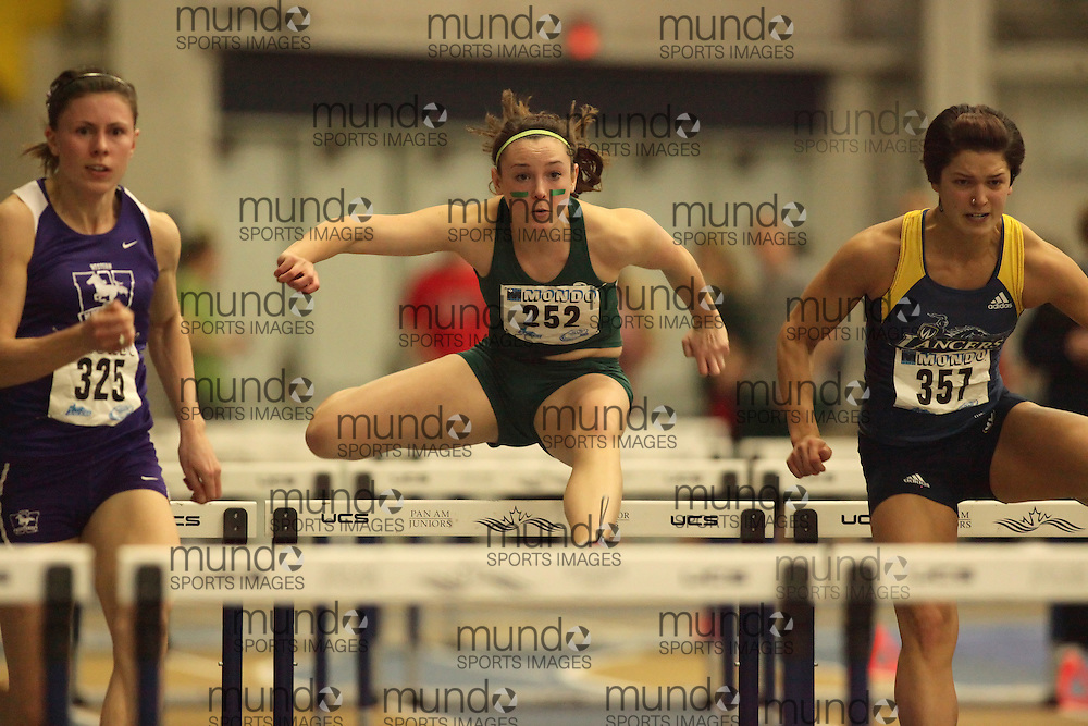 (Windsor, Ontario---12 March 2010) Amanda Herron of University of Saskatchewan   competes in the  at the 2010 Canadian Interuniversity Sport Track and Field Championships at the St. Denis Center. Photograph copyright Sean Burges/Mundo Sport Images. www.mundosportimages.com