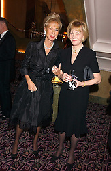 Left to right, ROSEMARY SAID and DOROTHY IND at a ball in aid of the English National Ballet featuring debutantes rom the forthcoming season held at The park Lane Hotel, Piccadilly, London on 16th March 2006.<br />