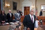 Nov 15, 2010 - Washington, District of Columbia, U.S. - Rep. CHARLES RANGEL, (D-N.Y.) appears before a Adjudicatory Subcommittee hearing to determine whether any alleged ethics violations he committee can be proven by clear and convincing evidence. The hearing/trial is expected to last approximately one week..(Credit Image: © Pete Marovich/ZUMA Press)