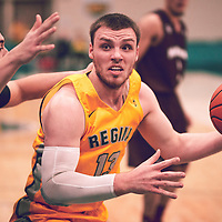 2nd year forward, Carter Millar (13) of the Regina Cougars during the Men's Basketball Home Game on Fri Nov 30 at Centre for Kinesiology,Health and Sport. Credit: Arthur Ward/Arthur Images