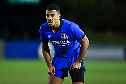 Michael Mba of Italy<br /> <br /> Photographer Craig Thomas/Replay Images<br /> <br /> U20 Six Nations - Wales v Italy  - Friday 31st January 2020 - Stadiwm Zip World (Parc Eirias) - Colwyn Bay<br /> <br /> World Copyright © Replay Images . All rights reserved. info@replayimages.co.uk - http://replayimages.co.uk