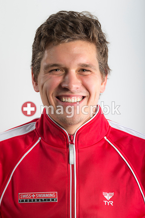 CHUR's head coach and Swiss Swimming coach Arpad PETROV of Hungary poses during a portrait session during the International Swim Meet Uster 2013 in Uster, Switzerland, Saturday, Jan. 26, 2013. (Photo by Patrick B. Kraemer / MAGICPBK)
