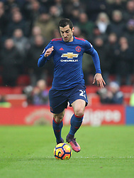 Henrikh Mkhitaryan of Manchester United in action - Mandatory by-line: Jack Phillips/JMP - 21/01/2017 - FOOTBALL - Bet365 Stadium - Stoke-on-Trent, England - Stoke City v Manchester United - Premier League
