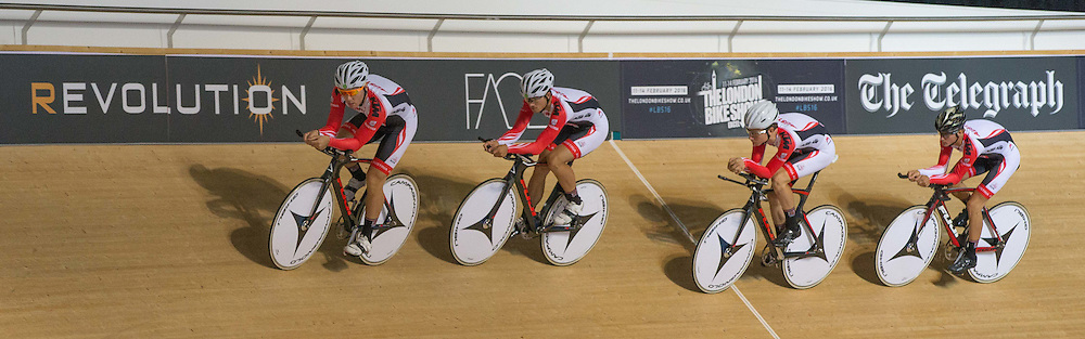 Austrian Team Pursuit at the Revoultion Series 2015/6 Round 1 Derby, Day 1, on 14 August 2015 ( (Photo by Mike Poole - Photopoole)