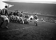 Irish Rugby Football Union, Ireland v Scotland, Five Nations, Landsdowne Road, Dublin, Ireland, Saturday 22nd February, 1964,.22.2.1964, 22.2.1964,..Referee- A C Luff, Rugby Football Union, ..Score- Ireland 3 - 6 Scotland, ..Irish Team, ..T J Kiernan,  Wearing number 15 Irish jersey, Full Back, Cork Constitution Rugby Football Club, Cork, Ireland,..P J Casey, Wearing number 14 Irish jersey, Right Wing, University College Dublin Rugby Football Club, Dublin, Ireland, ..M K Flynn, Wearing number 13 Irish jersey, Right Centre, Wanderers Rugby Football Club, Dublin, Ireland, ..J C Walsh,  Wearing number 12 Irish jersey, Left Centre, University college Cork Football Club, Cork, Ireland,..K J Houston, Wearing number 11 Irish jersey, Left Wing, Queens University Rugby Football Club, Belfast, Northern Ireland,..C M H Gibson, Wearing number 10 Irish jersey, Stand Off, Cambridge University Rugby Football Club, Cambridge, England, and, N.I.F.C, Rugby Football Club, Belfast, Northern Ireland, ..J C Kelly, Wearing number 9 Irish jersey, Scrum Half, University College Dublin Rugby Football Club, Dublin, Ireland,..P J Dwyer, Wearing number 1 Irish jersey, Forward, University College Dublin Rugby Football Club, Dublin, Ireland, ..A R Dawson, Wearing number 2 Irish jersey, Forward, Wanderers Rugby Football Club, Dublin, Ireland, ..R J McLoughlin, Wearing number 3 Irish jersey, Forward, Gosforth Rugby Football Club, Newcastle, England, ..W A Mulcahy, Wearing number 4 Irish jersey, Captain of the Irish team, Forward, Bective Rangers Rugby Football Club, Dublin, Ireland,  ..W J McBride, Wearing number 5 Irish jersey, Forward, Ballymena Rugby Football Club, Antrim, Northern Ireland,..E P McGuire, Wearing number 6 Irish jersey, Forward, University college Galway Football Club, Galway, Ireland,  ..M G Culliton, Wearing number 8 Irish jersey, Forward, Wanderers Rugby Football Club, Dublin, Ireland, ..N A Murphy, Wearing number 7 Irish jersey, Forward, Cork Constitution Rugby Football Club,