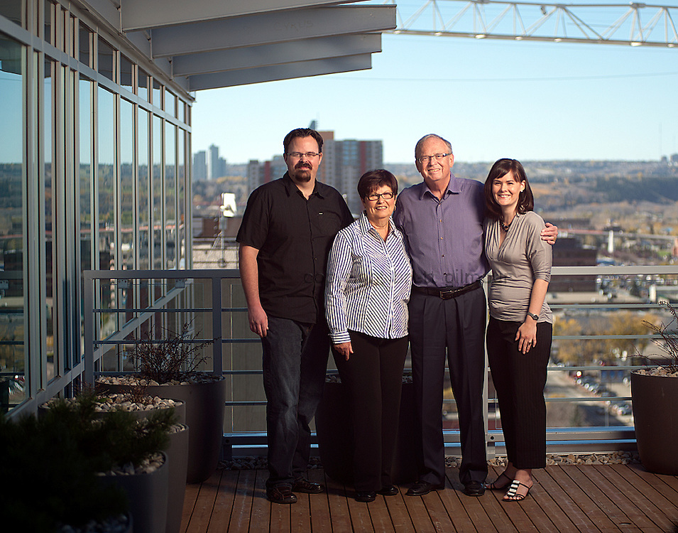 Pat La Borde and family at Athena Resources, Nominee for Small Business Philanthropist, 2010 National Philanthropy Day