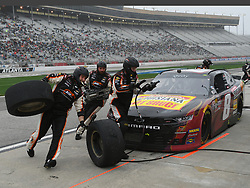 February 23, 2019 - Hampton, GA, U.S. - HAMPTON, GA - FEBRUARY 23: Ryan Preece, JR Motorsports, Chevrolet Camaro Louisiana Hot Sauce (8) receives service during a pit stop in the Xfinity Series  Rinnai 250 on February 23, 2019, at Atlanta Motor Speedway in Hampton, GA.(Photo by Jeffrey Vest/Icon Sportswire) (Credit Image: © Jeffrey Vest/Icon SMI via ZUMA Press)