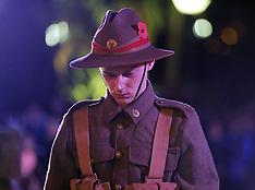 Wellington-ANZAC dawn service, Cenotaph 2014