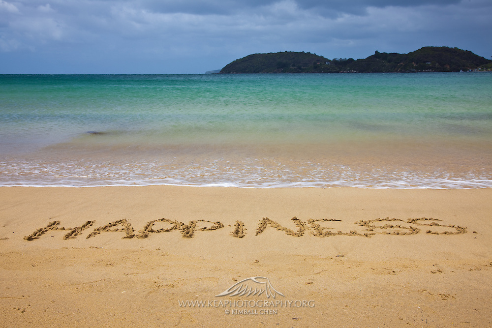 On one of the many beaches of Stewart Island, New Zealand