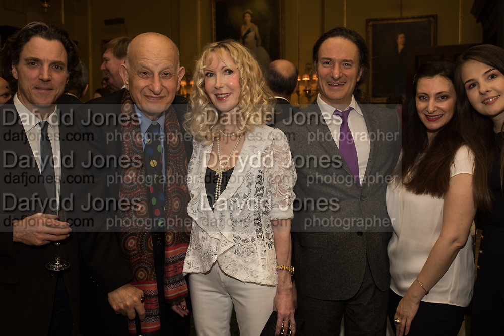 ALEXANDER NEWLEY, NEWLEY, NAIM ATTALLAH; BASIA BRIGGS, RAMSAY ATTALLAH; PAULINE AHAD; ALISON DEDOVIC, Launch hosted by Quartet books  of Madam, Where Are Your Mangoes? by Sir Desmond de Silva at The Carlton Club. London. 27 September 2017.