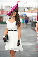 01/08/2013 Miss Galway Laura Fox at the Anthony Ryan's Best Dressed on Ladies day at the Galway Races . Picture:Andrew Downes