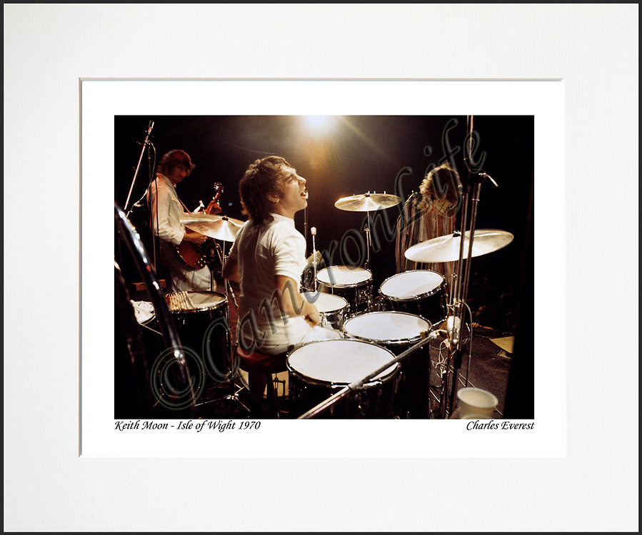 Keith Moon - An affordable archival quality matted print ready for framing at home.<br />